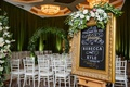 wedding ceremony sign gold frame chalkboard art welcome to the wedding wedding date greenery flowers