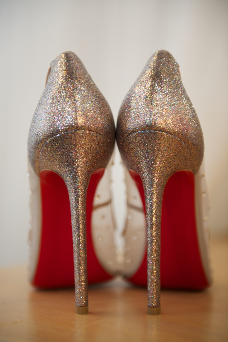 Red Sparkle High Heels