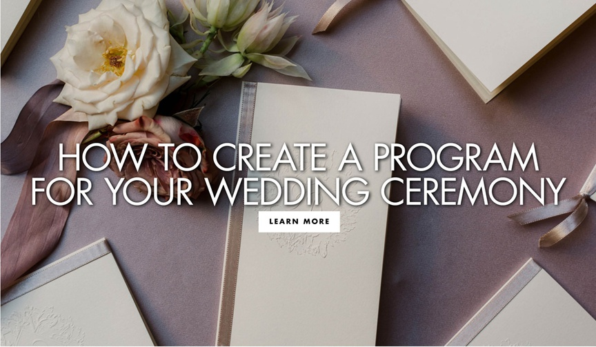 how to create a program for your wedding ceremony