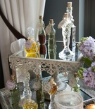 custom perfumes mirrored display new york city bridal shower favors vintage