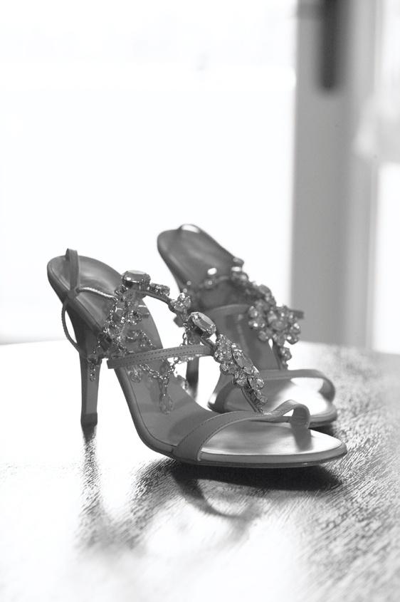 Black and white photo of Giuseppe Zanotti heels