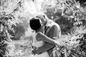 Bride and Groom at private estate wedding in Santa Barbara CA