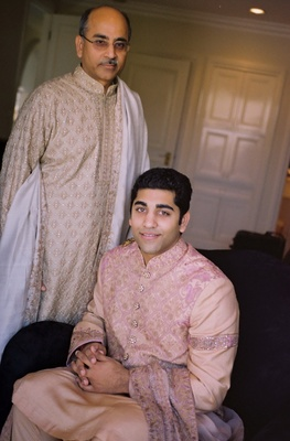 Groom and father in traditional India wear