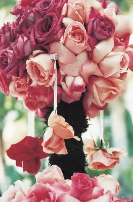 Pomander rose topiary ceremony decoration
