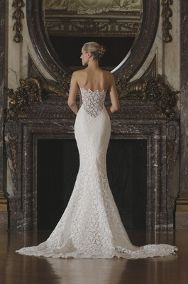 Romona Keveza Spring 2016 Lace Wedding Dress Back