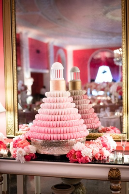 tiered macaron wedding cake southern wedding reception unique fading desserts