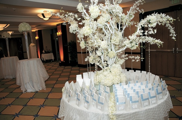 All white autumn wedding at south beach in miami florida inside round table covered in white tablecloth with tree funny wedding junglespirit Image collections