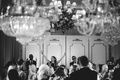Black and white photo of the James Gang Band at a wedding in Montage Laguna Beach ballroom