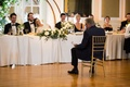 duane kuiper gives toast at daughter Dannon's wedding, father of the bride sits for toast