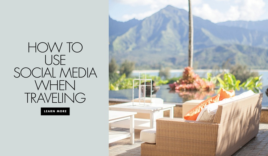 how to utilize social media when traveling
