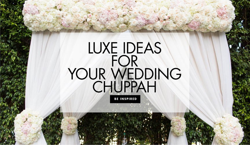 Luxe ideas for your wedding chuppah ceremony decorations structure altar