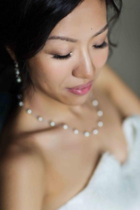 Bride with natural look makeup