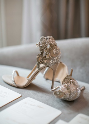 Sergio Rossi sandal heels jewel rhinestone details on toe strap and heel