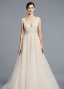 Anne Barge Spring 2018 bridal collection Francoise wedding dress tulle sweetheart ball gown