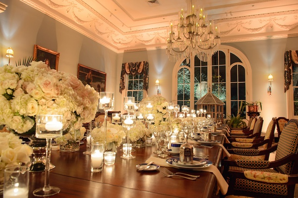 Wedding reception in Southern Plantation dining room