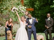 la rams brandin cooks wedding briannon lepman, bride and groom celebrate after ceremony