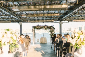 san diego wedding ceremony on a terrace overlooking the ocean