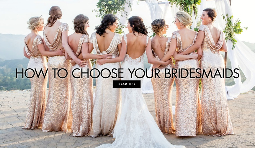 Who should stand by your side during your wedding, and who should attend as a guest.