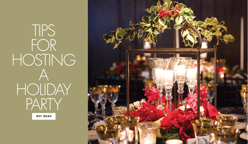 planning tips for throwing a holiday party