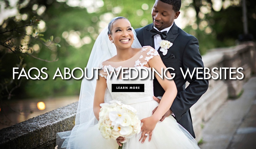 FAQs frequently asked questions about wedding websites
