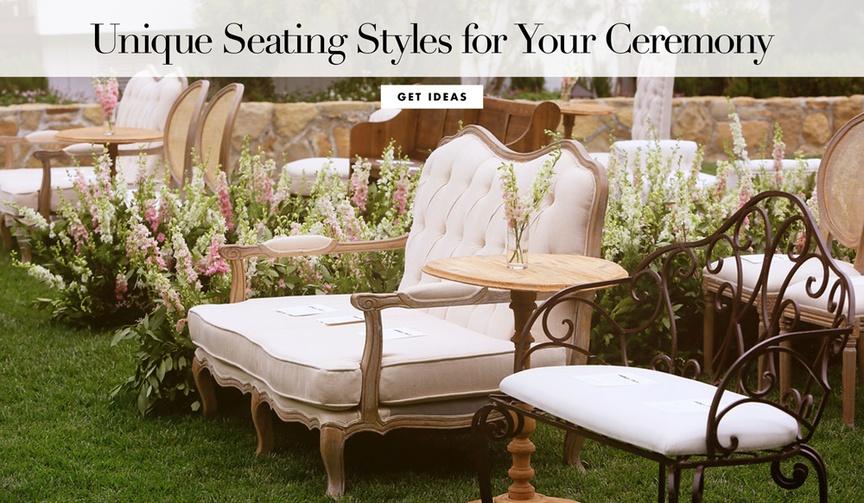 alternatives to ceremony seating, wedding ceremony