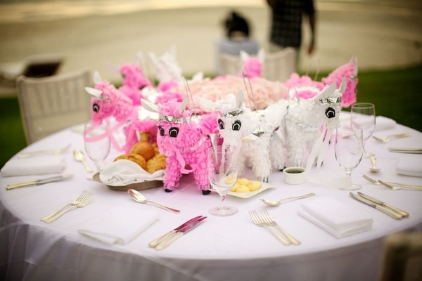 Kid's table at Mario Lopez and Courtney Mazza's wedding