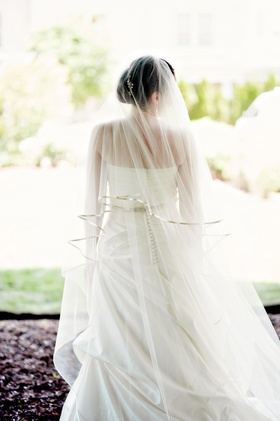 bride at the Chanler Newport wedding