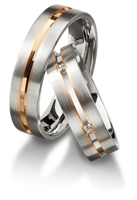 Furrer Jacot 71-29260 white gold and rose gold edding band
