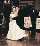 Newlyweds first dance in ballroom