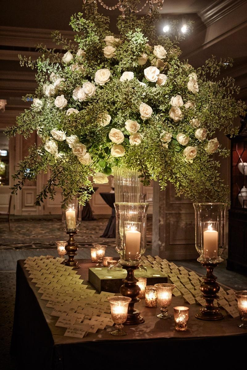 Reception Dcor Photos Candles Decorating Escort Card Table