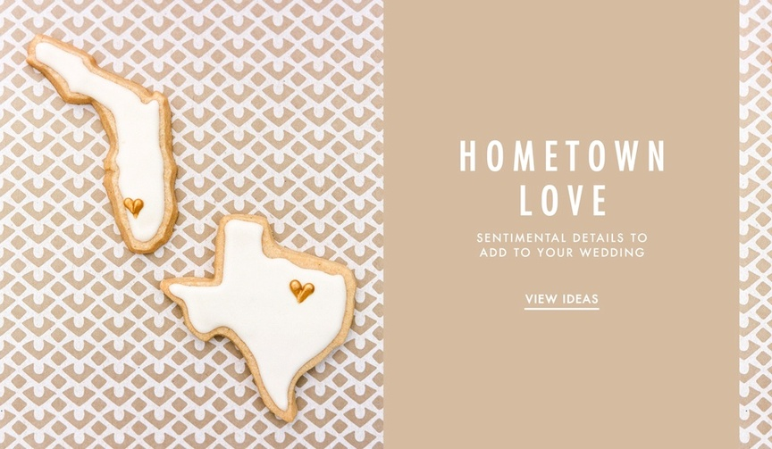 How to add hometown love to your wedding