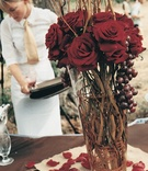 Red Wedding Reception Arrangements