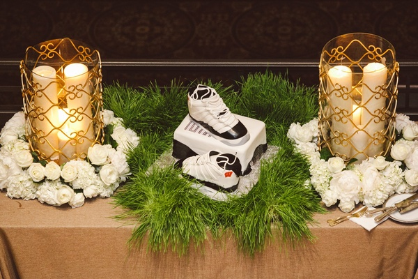 Groom's cake with Nike shoes and shoebox