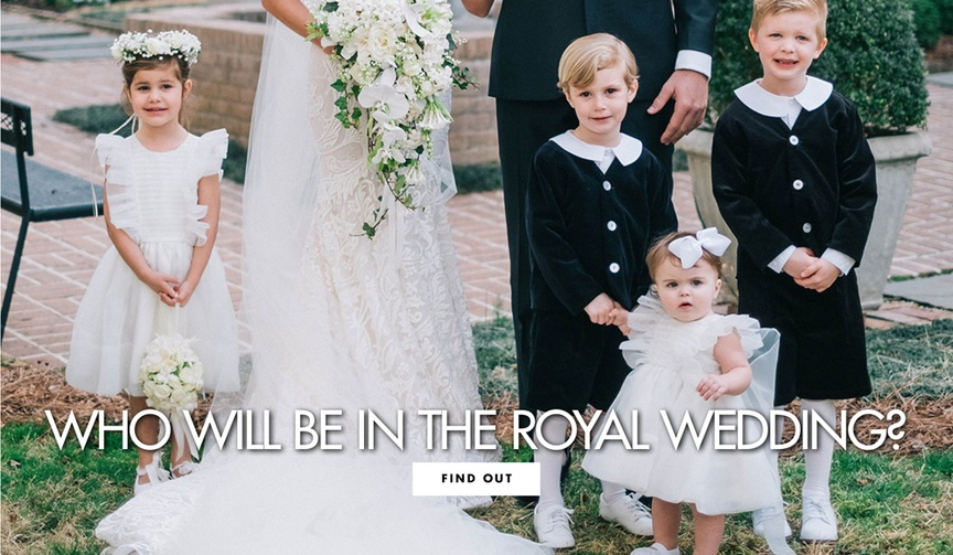 The Kensington Palace has released the names of the bridesmaids and page boys.