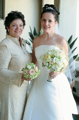 Mother of the bride in St. John ivory dress