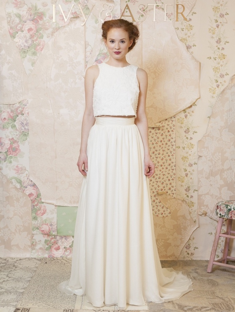 Bridal Fashion Trend Crop Top Wedding Dresses Inside Weddings