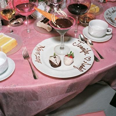Strawberry and martini glass dessert