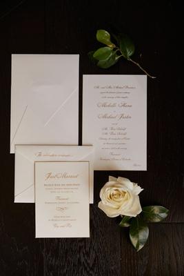 wedding invitation white stationery with gold calligraphy envelope invitation