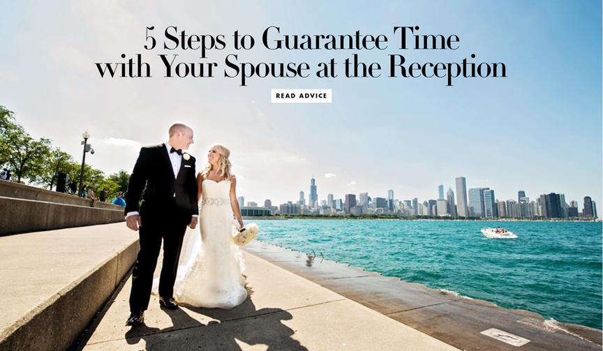 How to ensure you actually spend time with your new spouse at the wedding reception.
