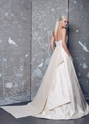Legends Romona Keveza Fall 2018 collection strapless blush taffeta a-line gown