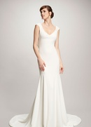 Theia spring 2018 Daria mermaid strech crepe wedding dress with cowl back bridal collection