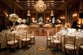 renaissance room at intercontinental chicago, gold wedding reception, crystal chandelier