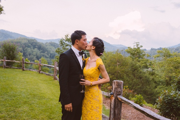 Chinese bride and groom in different reception attire