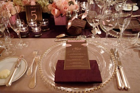Mocha and chocolate reception tablescape
