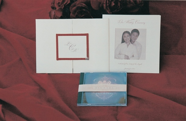 invitation and cd wedding favor from lea salonga's wedding