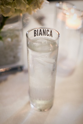 Custom name glassware