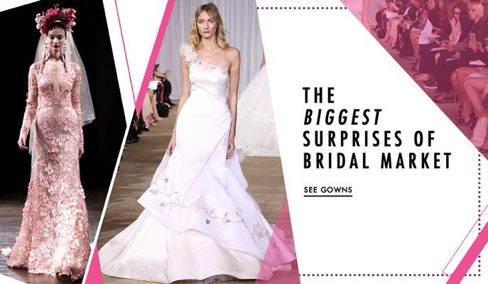 Surprising, unique, and unusual wedding dresses from Fall 2016 Bridal Fashion Week