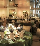 Patina linens and unique centerpieces at Seven-Degrees