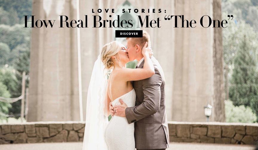 """How real brides met """"The One"""" stories from real weddings couples"""