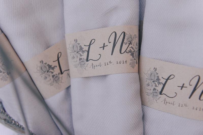 Custom label with Nick Carter and Lauren Kitt's initials